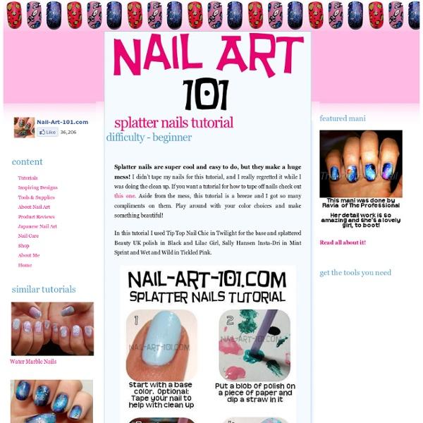 Splatter Nails Tutorial Pearltrees