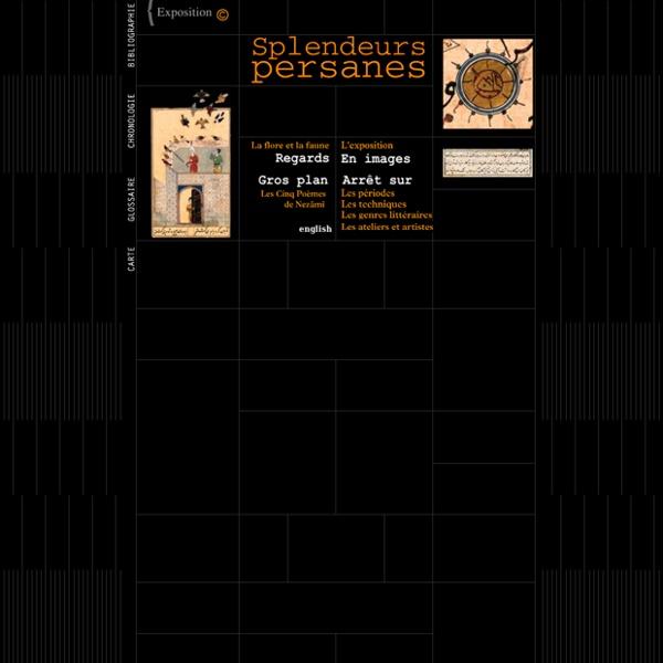 """Sur les miniatures iraniennes : """"Splendeurs Persanes"""", exposition virtuelle de la Bnf"""