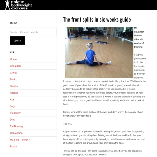 learn how to do splits in 2 weeks | Fitness and Health ...