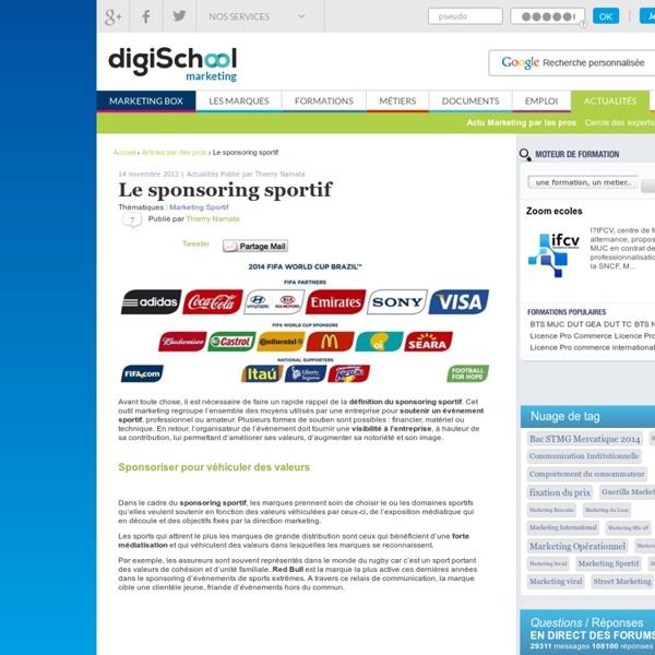 Sponsoring Sportif, Définition, Rugby, Société Générale, Retour sur investissement...