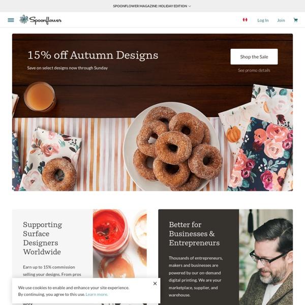 Shop, design custom fabric, wallpaper, gift wrap & decals