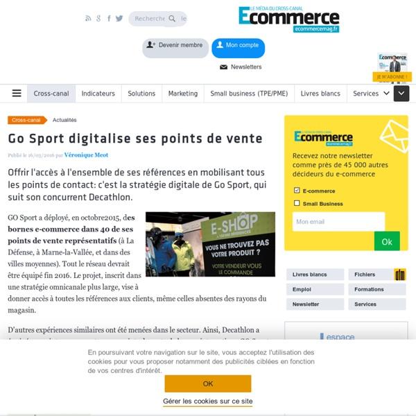 Go Sport digitalise ses points de vente
