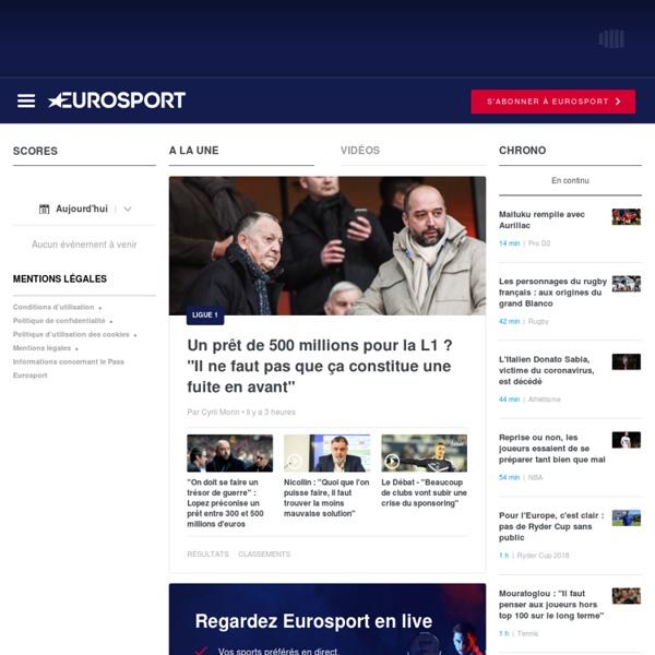 Sport en direct, Match en direct, infos sport en temps réel - Eurosport