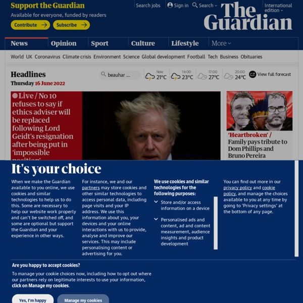 Latest news, sport and comment from the Guardian