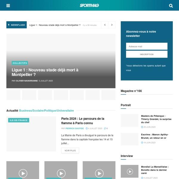 SPORTMAG.fr, au-delà du sport...
