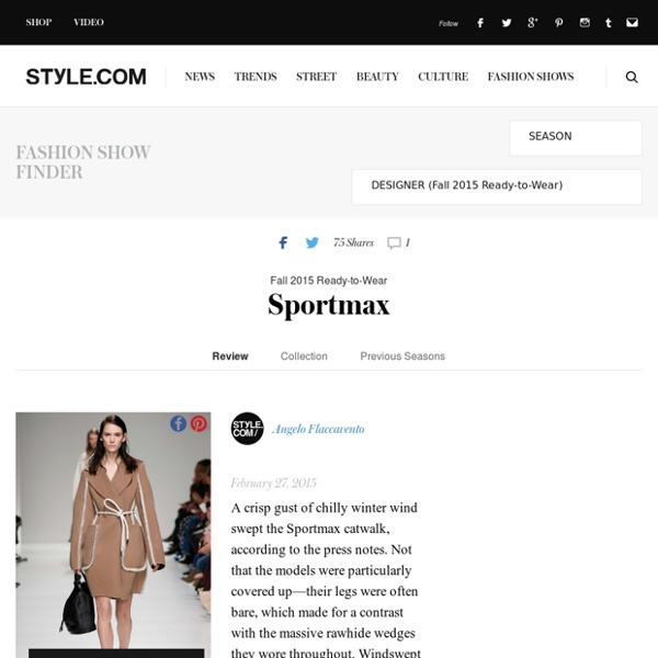 Sportmax Fall 2015 Ready-to-Wear Fashion Show: Runway Review - Style.com