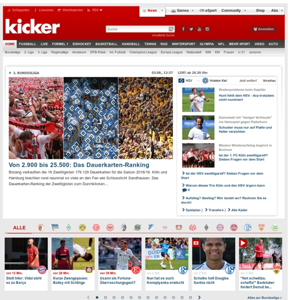 Kicker : Sportnachrichten