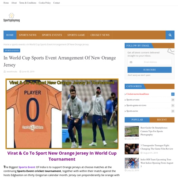 In World Cup Sports Event Arrangement Of New Orange Jersey