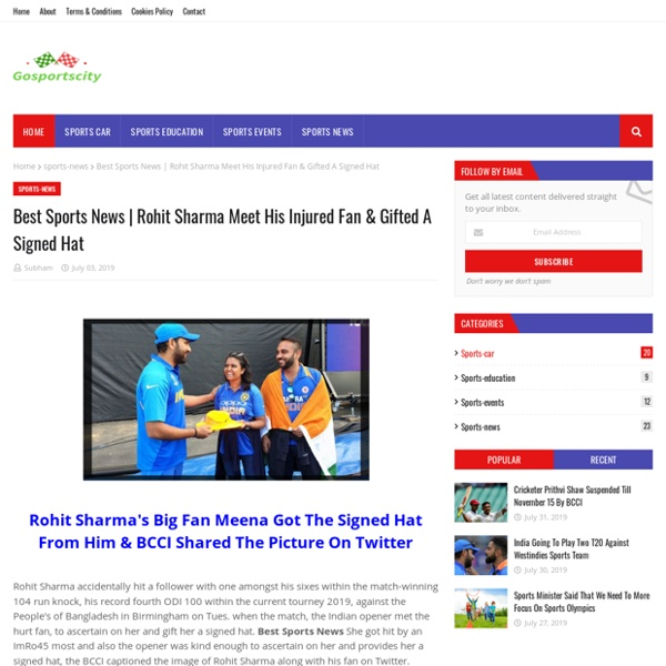 Rohit Sharma Meet His Injured Fan & Gifted A Signed Hat