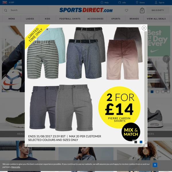 SportsDirect.com - Trainers, Football Boots, Football Shirts, Running Shoes