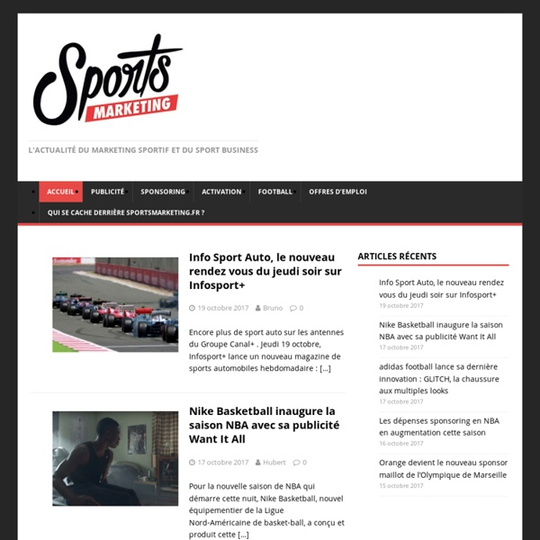 Sportsmarketing.fr - L'actualité du marketing sportif et du sport business -