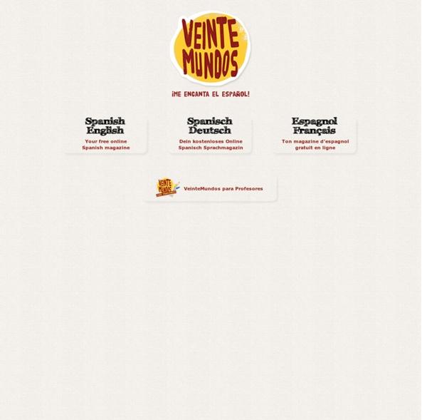 Das kostenlose Sprachmagazin. Mit Audioversion, Vokabel- und Grammatikhilfen. Alles rund um Spanien und Lateinamerika. Alle 2 Wochen neu.