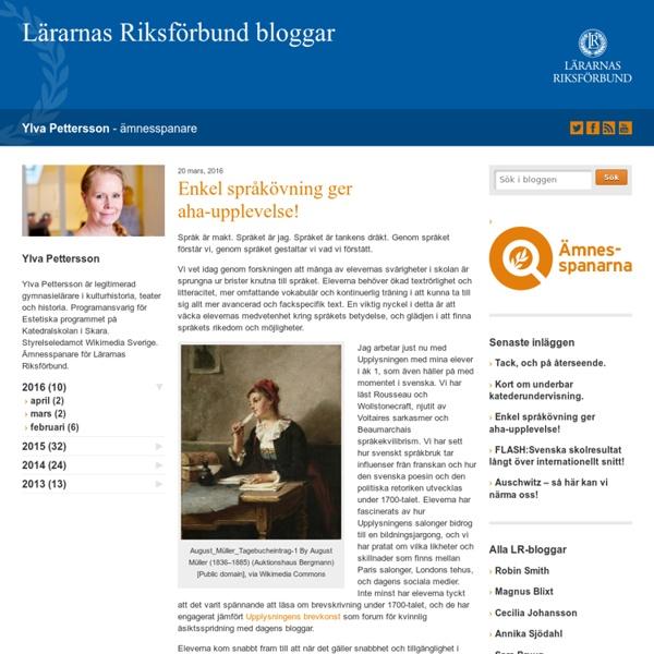 Enkel språkövning ger aha-upplevelse! - Ylva Pettersson