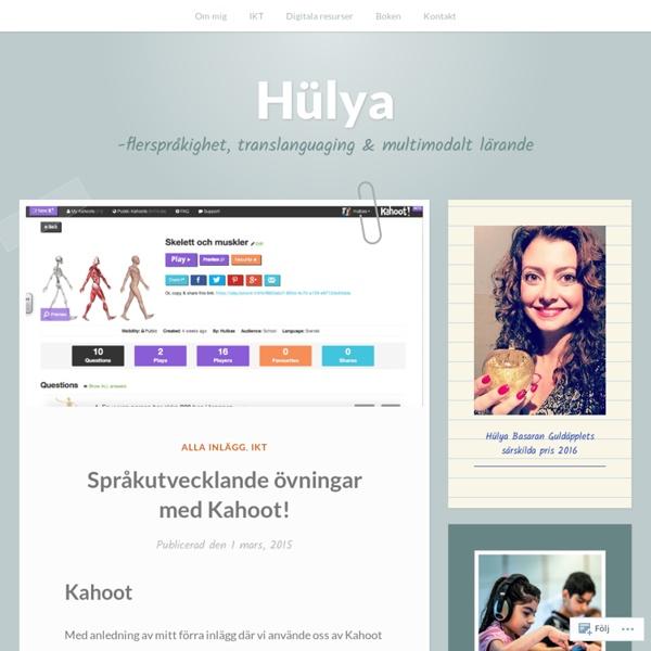 Språkutvecklande övningar med Kahoot! – Hülya