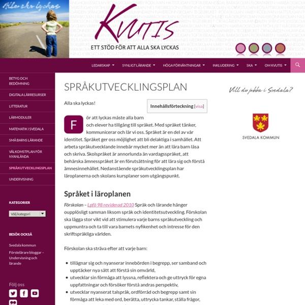 Språkutvecklingsplan - Svedala kommun