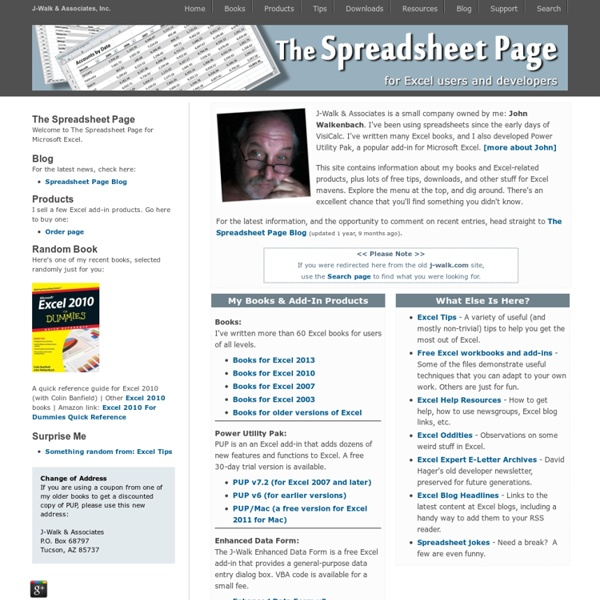 The Spreadsheet Page - By John Walkenbach