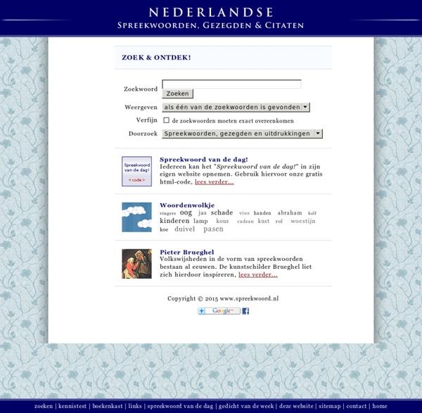 Citaten En Gezegden : Nederlandse spreekwoorden gezegden citaten