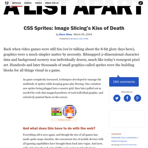 CSS Sprites: Image Slicing's Kiss of Dea