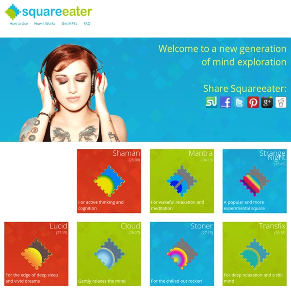 Squareeater - binaural audio and brainwave entrainment for the psychedelic mind
