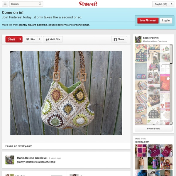 Sacs crochet / granny squares to a beautiful bag!