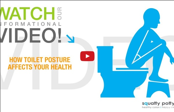 Squatty Potty-Toilet Stool: squatting for proper toilet posture