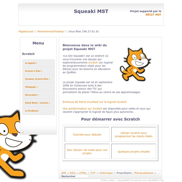 SqueakiMST:PageAccueil