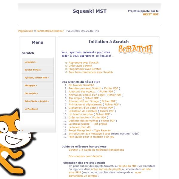 SqueakiMST:ScratchInitiation