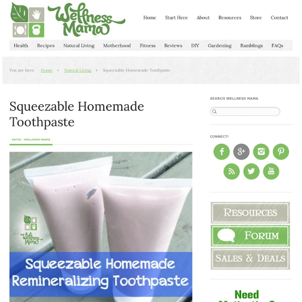 Squeezable Homemade Toothpaste Recipe