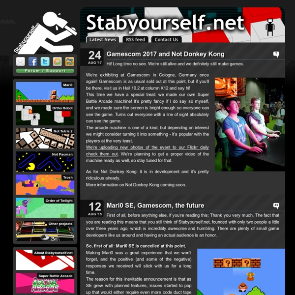 Stabyourself.net - Knives and stabbing weapons