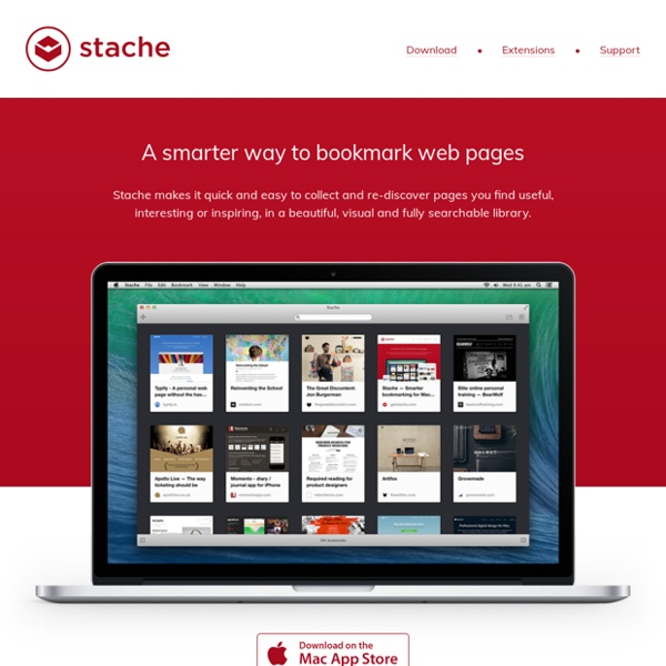 Stache - A smarter way to bookmark web pages for Mac, iPhone and iPad