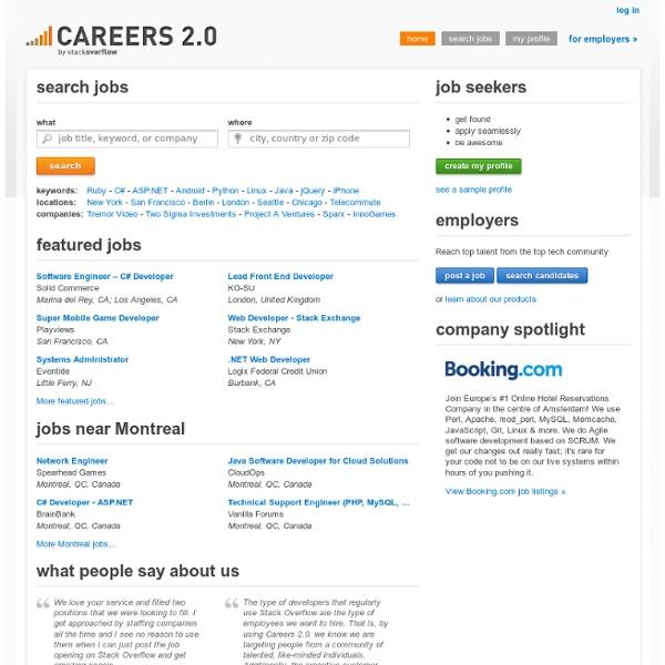 Stack Overflow Careers 2.0