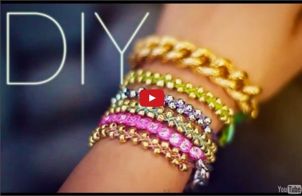 DIY Bracelets perles empilables {} FACILE