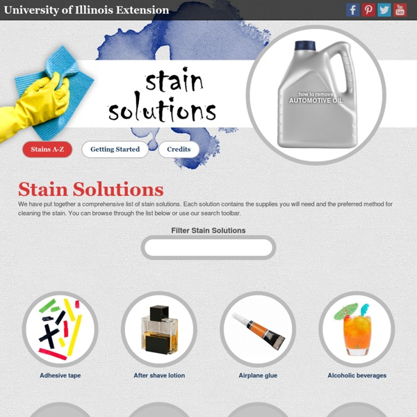 Stain Removal Solutions