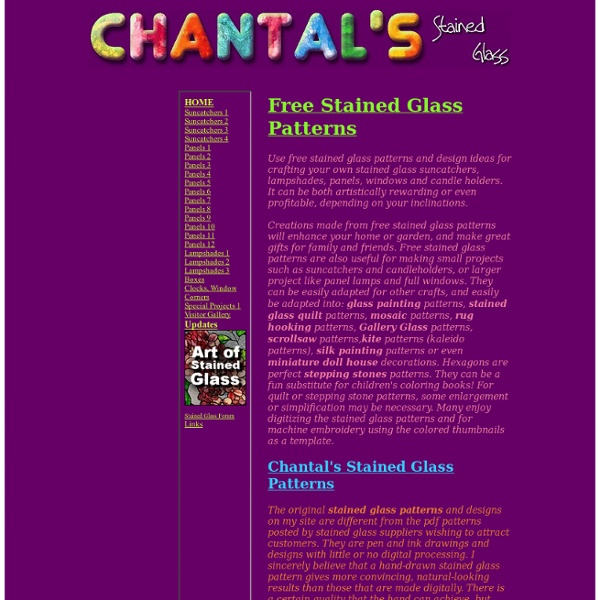 Chantal's Stained Glass Patterns