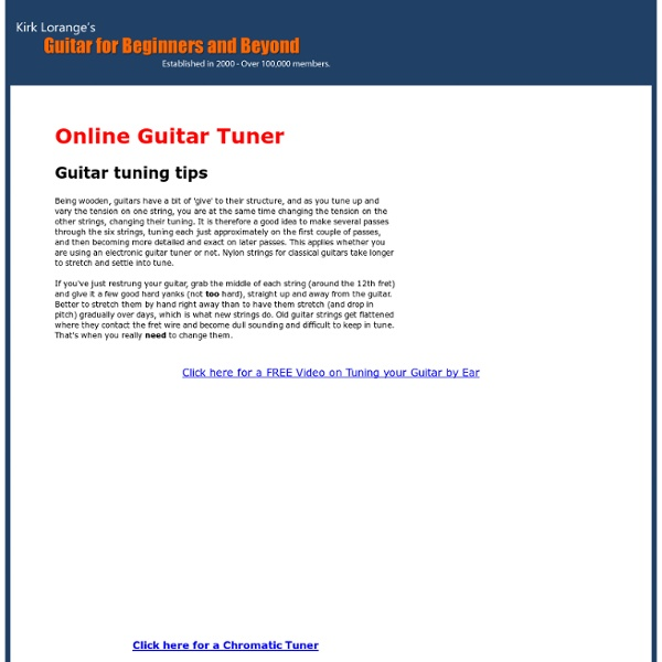 online guitar tuner e a d g b e pearltrees. Black Bedroom Furniture Sets. Home Design Ideas