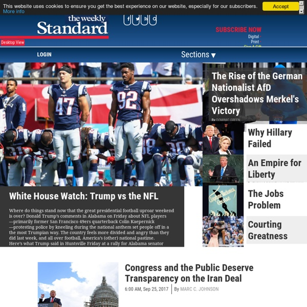 A Weekly Conservative Magazine and Blog of News and Opinion.