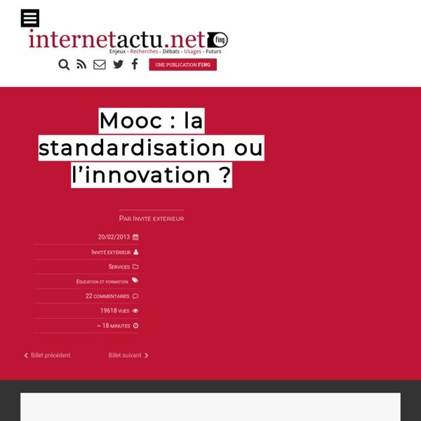 Mooc : la standardisation ou l'innovation