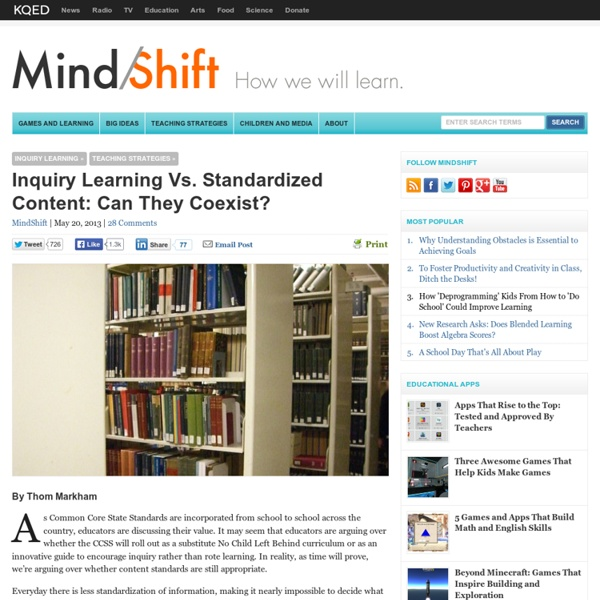 Inquiry Learning Vs. Standardized Content: Can They Coexist?