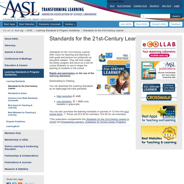 Standards for the 21st-Century Learner