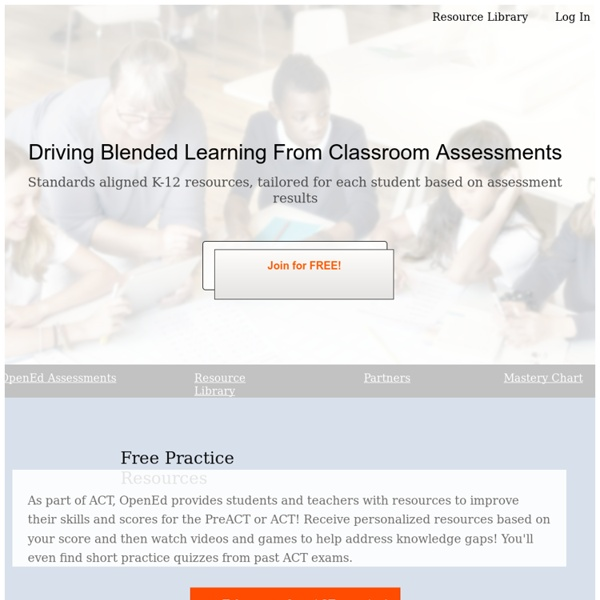 Assessments, Homework, Videos, Games, Lesson Plans. Over a million resources aligned to Common Core, PARCC, SBAC, NGSS, TEKS