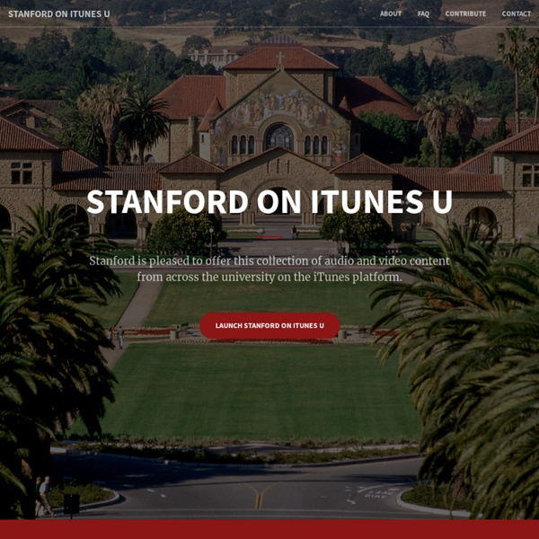 Stanford on iTunes U