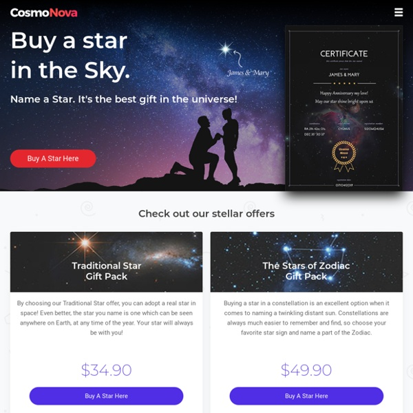 Buy a Star - Name a Star - Adopt a Star Online