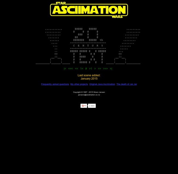 STAR WARS ASCIIMATION - Main Page