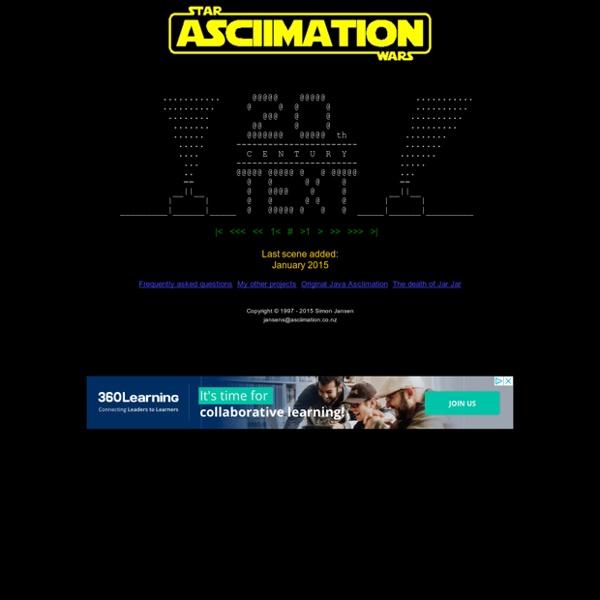 STAR WARS ASCIIMATION - Main Page