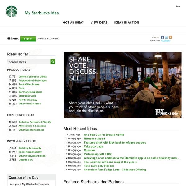 My Starbucks Idea