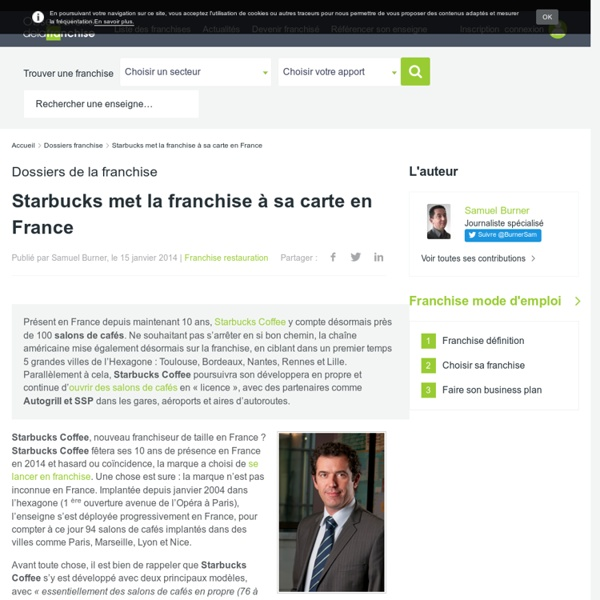 Starbucks met la franchise à sa carte en France