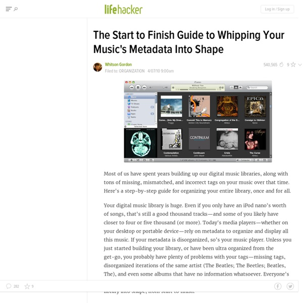 Start to Finish Guide to Whipping Your Music's Metadata into Shape