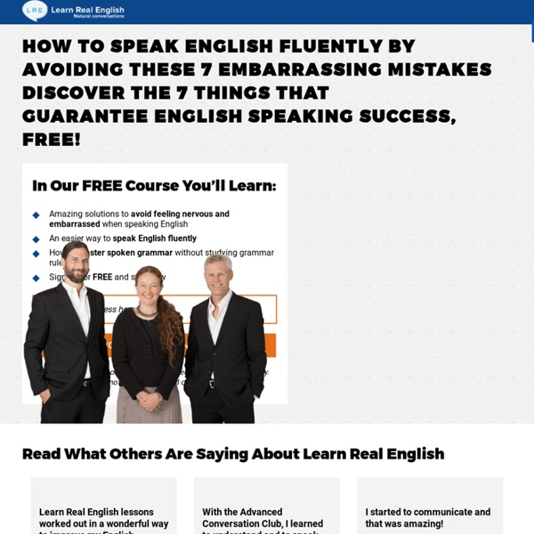 Learn Real English » 7 Rules Signup Page [WiderFunnel winning variation]