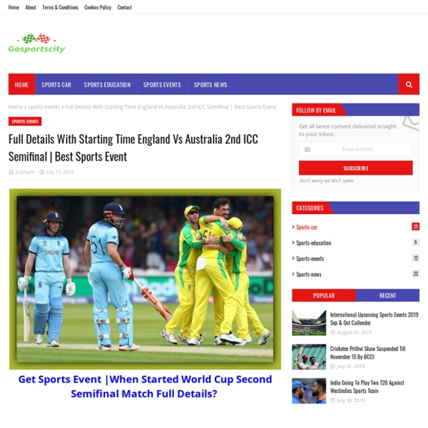 Full Details With Starting Time England Vs Australia 2nd ICC Semifinal