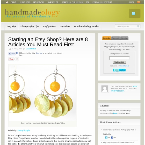 Starting an Etsy Shop? Here are 8 Articles You Must Read First
